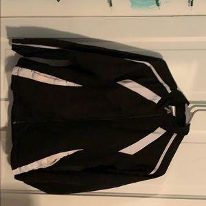 Black running jacket